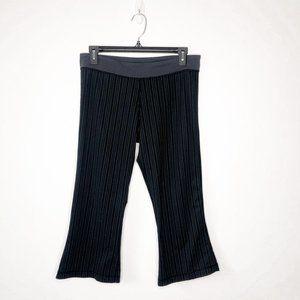 Lululemon Black Pin Stripe Slit Crop Flare Pants 8
